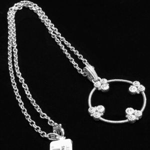 Judith Ripka Garland White Sapphires Necklace NEW!
